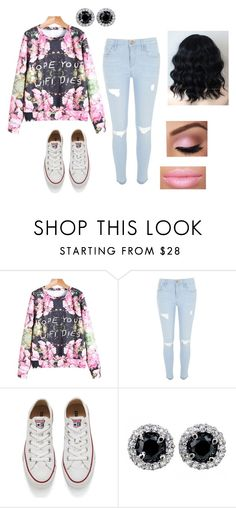 Street Style Collection Outfit 2 by americ0 on Polyvore featuring River Island, Converse, women's clothing, women's fashion, women, female, woman, misses, juniors and hopeyourwifidies