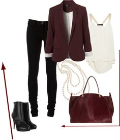"""burgundy"" by madelienemerrick on Polyvore"