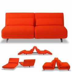 Contemporary Sofa Beds at Espacio | Free London Delivery | FuturaLe Vele Video (swivelling) Sofa Bed - 2 x 80cm unitsdesigned byLuigi Recalcati