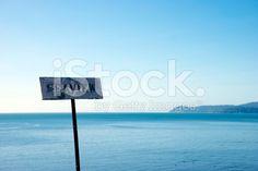 A sign shows the Seaview, Just in case. Image Now, Just In Case, Royalty Free Stock Photos, Cinema, Sky, Photography, Blue, Color, Heaven