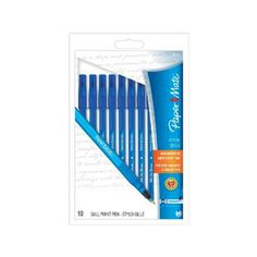 Paper Mate Write Bros Stick Medium Tip Ballpoint blue Pens - 10 ea | Ideal pen for home, school and office use. myotcstore.com - Ezy Shopping, Low Prices & Fast Shipping.