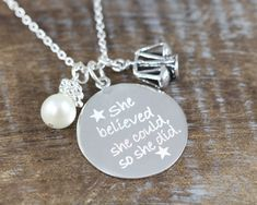 Personalized Jewelry Graduation Gift for Lawyer Judge Paralegal Scales of Justice Charm Necklace Law School 925 Sterling Silver by Shiny Little Blessings. Personalize it on the back of the pendant with a name, year of graduation, name of school,...etc.