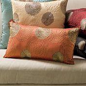 Chrysanthemum Lumbar Pillow. Love these pillow colors!