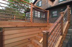 LOVE the copper pipes and the boards in place of lattice
