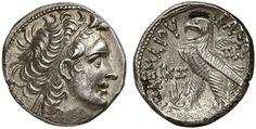 AR Tetradrachm. Greek Coin, Ptolemaic Kingdom of Egypt, Ptolemy XII. Neos Dionysos, father of Cleopatra the Great, king 80-51 BC. 55-54 BC.13,25g. Svoronos Pt. 1836. Almost EF. Price realized 2011: 800 USD.