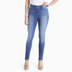 Women's Gloria Vanderbilt Jessa Curvy Skinny Jeans, Size: 4 - regular, Blue Other