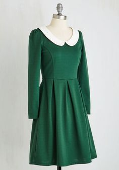 Record Store Date Dress in Forest | Mod Retro Vintage Dresses | ModCloth.com