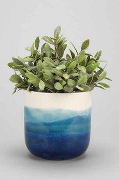4040 Locust Watercolor Planter Urban Outfitters - Plant Pot - Ideas of Plant Pot - 4040 Locust Watercolor Planter Urban Outfitters Ceramic Planters, Ceramic Vase, Ceramic Pottery, Clay Planter, Ceramics Pottery Mugs, Pottery Pots, Blue Pottery, Ceramics Ideas, Modern Ceramics