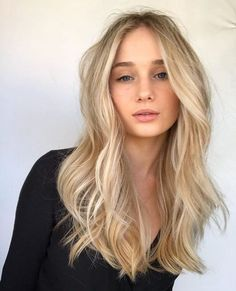 Golden Blonde Balayage for Straight Hair - Honey Blonde Hair Inspiration - The Trending Hairstyle Blonde Hair Looks, Honey Blonde Hair, Platinum Blonde Hair, Blonde Balayage Honey, Light Blonde Hair, Brown To Blonde, Blonde Highlights, Butter Blonde, Wavy Hair