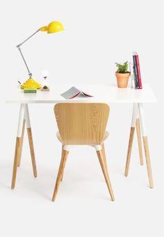 The online store offering all the latest fashion trends, art, gadgets & interior design White Desks, Work Desk, Writing Desk, Innovation Design, Solid Wood, Bergen, Interior Design, Chair, Stuff To Buy