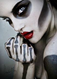 zombie gesichtsschminke knochen skelett
