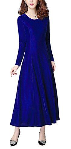 Urban CoCo Women's Elegant Long Sleeve Ruched Velvet Stre... https://www.amazon.com/dp/B01N416XJR/ref=cm_sw_r_pi_dp_x_Ua00ybAFCZ738