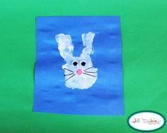 Meet the Dubiens: easter craft: handprint bunnies