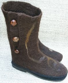 Beautiful Wet Felted Boots by my Aunt, Carin Engen.