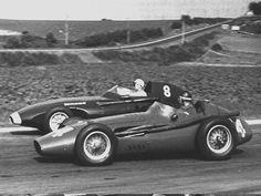 1958 GP de Francia - juan manuel fangio (maserati), stirling moss (vanwall)