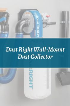 For a combination of heavy duty performance and out-of-the-way convenience, our Dust Right system is the perfect solution. Shop our Dust Right system today!  #createwithconfidence #dustright #rocklerdustcollection #wallmountdustcollector #dustrightsystem Dust Collector, Workshop Organization, Woodworking Shop, Wall Mount, Eye Protection, Garage House, Top Rated, Safety, Shopping