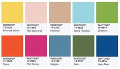Colori Primavera-Estate 2017 secondo Pantone - Color report per la primavera 2017