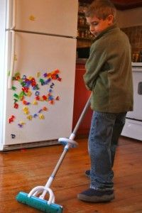Teaching children the benefit of cleaning and easing them into chores :)
