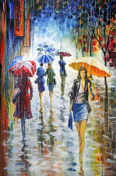 Pinturas que me gustan: día de paraguas