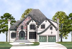 Love this floor plan. Especially the 2nd floor   Kingscote House Plan - 8016
