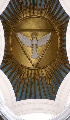 Rom, Via delle Quattro Fontane, San Carlo alle Quattro Fontane, Laterne mit dem hl. Geist (lantern with Holy Ghost)