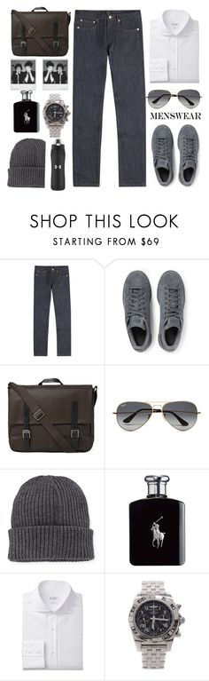 """""""If I were a boy"""" by karineminzonwilson ❤ liked on Polyvore featuring A.P.C., adidas Originals, Ally Capellino, Ray-Ban, Moncler, Polaroid, Ralph Lauren, Breitling, Under Armour and men's fashion"""