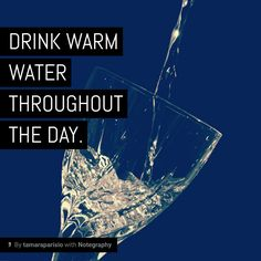 Note with content: Drink warm water all day. #Ayu