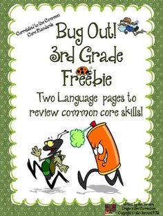 Get a little buggy with this third grade freebie! This resource includes two student pages that cover three language standards. FREE