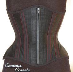 Contour Corsets Gallery, Black mesh, breathable