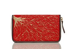#Pittura Arte #Handpainted #Clutch #Wallet #Red #Roots #Canvas