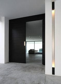 modern large dark front doors