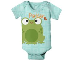 Silly Frog Onesie, Personalized Baby Onesies,
