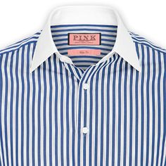 Clover Stripe Shirt - Button Cuff by Thomas Pink