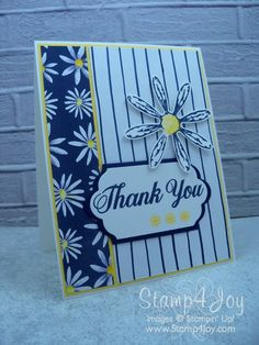 Homemade Thank You Card Idea Using Daisy Delight I'm featuring Daisy Delight for today's homemade thank you card idea. A very cool new stamp set, it will be available for purchase from the new Stampin' Up! catalog when it goes live the beginning of June.  It seems to be one of the most popular stamp sets with our demonstrators so… Read More »