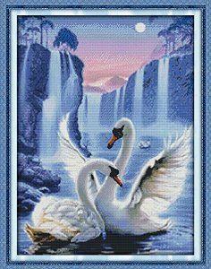 Swan love - cross stitch