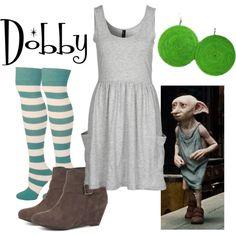 Dobby by fandom-wardrobes on Polyvore featuring Vero Moda, dobby and harry potter