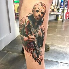 Freddy krueger vs jason tattoo freddy vs jason healed for Friday the 13th tattoos michigan