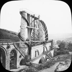 "1890 1900 WB ""Elaborate technical wheel"" is of course the Laxey Wheel, Isle of…"
