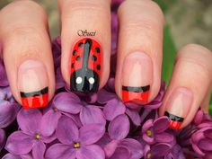Beauty by Suzi: How to: Ladybug Nails (after year)
