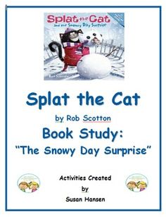 "This fun winter unit for first or second grade contains reading, writing and vocabulary activities based on the ""Splat the Cat and the Snowy Day Surprise"" book by Rob Scotton.  A nonfiction story about building a snowcat is also included, with related close read, fluency, and comprehension activities."