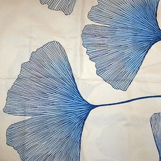 Etsy Ginkgo Leaf Decor Textile . . . I must make a ginko leaf stamp or two . . .