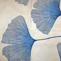 Etsy Ginkgo Leaf Decor Textile . . . I must make a ginko leaf stamp or two . . .