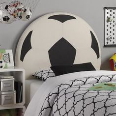 10 Boys Soccer Room Ideas!  From paint to decor, to furniture!                                                                                                                                                                                 More