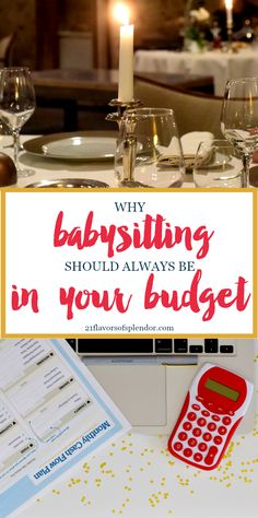 It is important for our marriages to make room in our schedules, but also our budgets by making sure babysitting is always in our budget. Click...