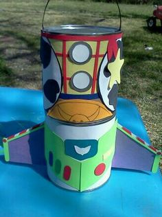 Toy story candy cans :) made from recycled formula cans!!