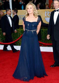 Jessica Lange in a gorgeous J. Mendel dress at the 2013 SAG awards