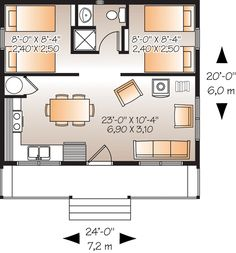But 2 story, layer the 'room half' on top of the living and have an open banister? Stairs at the back?