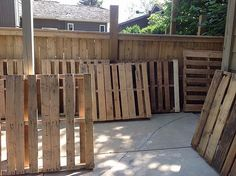Outdoor Pallet Sectional