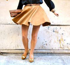 camel circle skirt