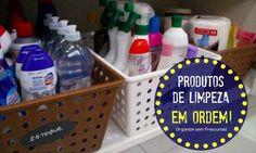 Como organizar os produtos e utensílios de limpeza e aproveitar espaços